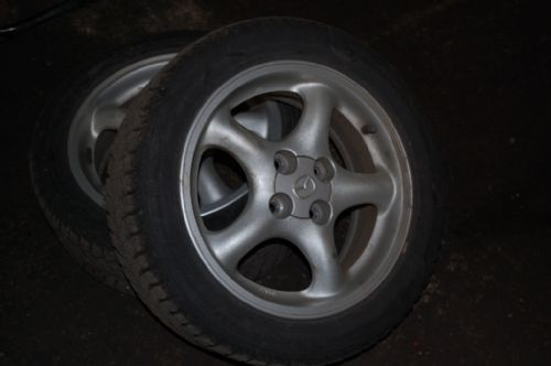 Pair of Winter Tyres with wheels MX-5 mk2 15x6JJ
